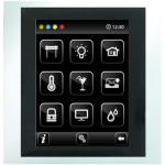 Control unit with touch screen EST3 White/Aluminum