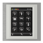 Control unit with touch screen EST3 Titanium/Ice