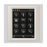 Control unit with touch screen EST3 Glass-White/Pearly