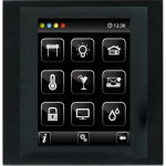 Control unit with touch screen EST3 Nickel/Dark Grey
