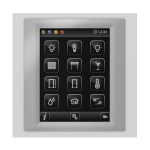 Control unit with touch screen EST3 Glass-White/Metallic Grey