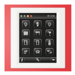 Control unit with touch screen EST3 Red/White