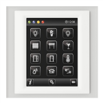 Control unit with touch screen EST3 Glass-White/White