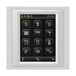 Control unit with touch screen EST3 Glass/Ice