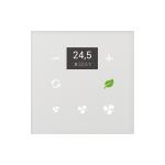 Стъклен стаен терморегулатор GRT3-50 /Бял