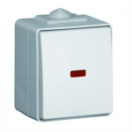 Single pole switch 1 with signal LED (grey)