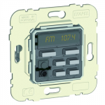 1 channel stereo control unit, FM tuner, alarm clock, IR driver