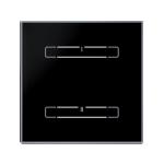 Glass touch controller - 2 buttons, BLACK SHARP