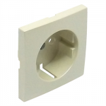 Cover plate for earth socket(Schuko) - Pearly