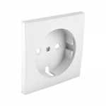 Cover plate for earth socket(Schuko) - White