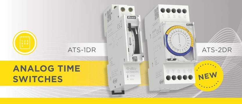 Let us introduce you brand new analog time switches ATS-1DR and ATS-2DR/ATS-2WR