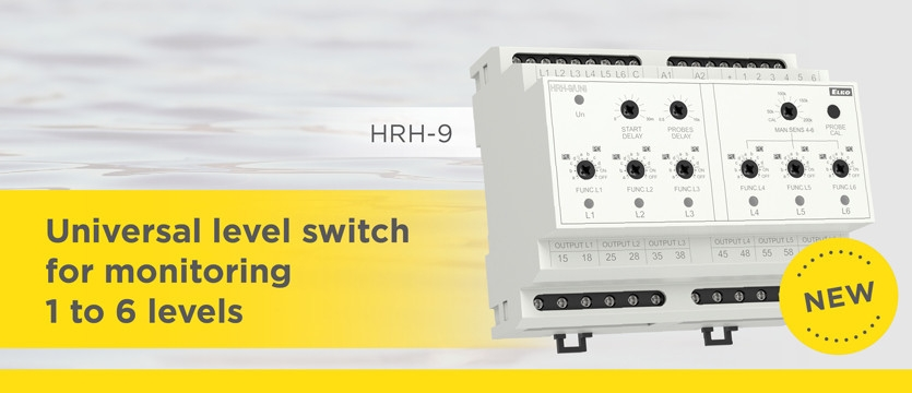 Universal level switch  for monitoring 1 to 6 levels HRH-9