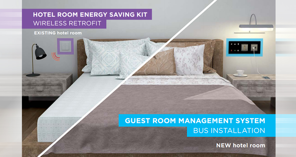 Smart hotel guarantees guest comfort and saves energy